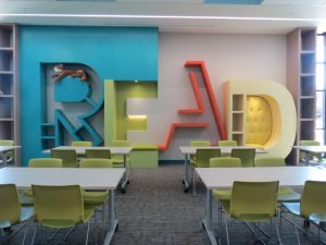 Ida Freeman Media Center Read Wall