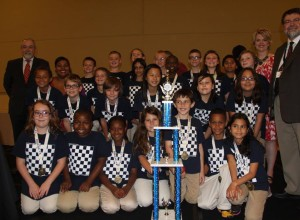 National Chess Champs team posing with trophy