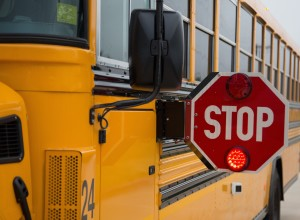 School Bus with Stop Sign deployed