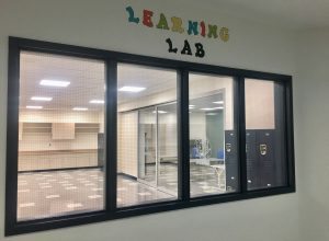 Learning Lab windows and sign